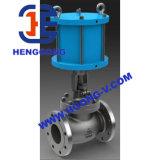 API/DIN Pueumatic Stellzylinder-Flansch-Edelstahl-Kugel-Ventil