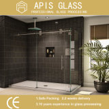 6mm / 8mm / 10mm / 12mm Plian Shower Door Tempered / Toughened Glass with Grooves / Notche / Holes / Dobradiças