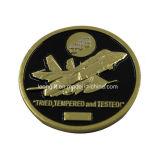 Venda por atacado chapeada ouro da moeda do desafio do metal dos EUA