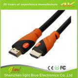 Supporto cavo arancione/nero di 4k*2k/60Hz di colore HDMI 2.0V