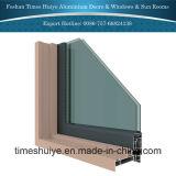 Porte en aluminium de salle de bains avec les glaces Tempered et les couleurs neuves