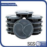 Bandeja plástica disponible del alimento del rectángulo de almacenaje con la cubierta