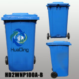 Plastiksortierfach-Gummirad-Abfalleimer des abfall-100L für Outdoort HD2wnp100b-B