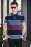 Overhemd van het T-stuk van het Polo van de Druk van het blok het Gestreepte met Korte Koker voor de Mens