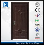 Prix en bois de porte intérieure de pièce de forces de défense principale de biens de toilette économique de PVC