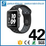 Cinta macia do bracelete dos esportes do silicone para a faixa 42mm do esporte do relógio de Apple