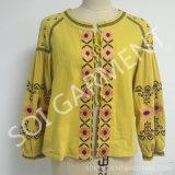 Couche mince de type de mode de broderie neuve de coton pour l'habillement de femmes (CA-01)