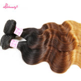 Gruppi malesi dei capelli dell'onda del corpo dei capelli di Remy di colore di Ombre