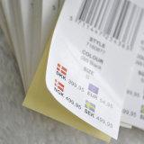 Стикеры кода штриховой маркировки собственной личности слипчивые для одежды