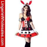 호화로운 여자의 토끼 Halloween 클럽 공상 복장 복장의 여왕