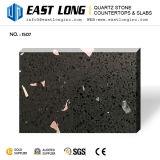 Surface Polished noire pour des partie supérieure du comptoir avec la pierre artificielle de quartz