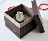 Caixa de armazenamento de madeira de couro Boite do indicador da embalagem do relógio do caso De Montres EL Reloj De Uhrenbox um Caixa De Reló Gio (YS376)