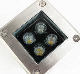 Quadratische im Freien begrabene Lampe des LED-Tiefbaulicht-4W des Garten-IP65 der Beleuchtung-220V LED