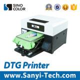 Impresora de la camiseta de la tela