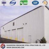 Costruzione d'acciaio della fabbrica di Constrcution per il workshop con il garage