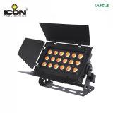 luz de interior de la arandela de la pared de 18X10W RGBW 4in1 LED con Ce