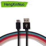 Câble de caractéristiques micro androïde de câble usb tressé en nylon chaud de vente