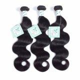 8Aブラジルボディ波のバージンの毛の織り方は上のRemyの人間の毛髪の拡張自然な黒を束ねる