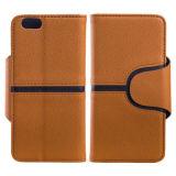 Caisse neuve de cuir de couleur de mélange de mode pour l'iPhone 6