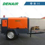 Compresor de aire movible del tornillo del motor diesel para las perforaciones Drilling