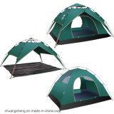 Kundenspezifisches Firmenzeichen-automatisches doppelte Schicht-kampierendes Zelt für 3-4 Leute
