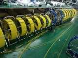 cámara V8-3388PT del examen de la plomería del dren de los patines DVR de la cámara del examen de la tubería de la alcantarilla del cable del empujador de los 60m