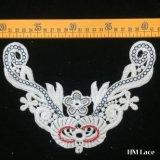 ворот вышивки ворота шнурка хлопка 22*16cm флористический Appliques Bridal мотив Hm2039 цветка ворота Neckline