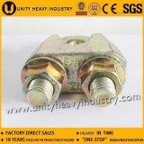 Grampo de cabo de aço ajustável chapeado zinco da braçadeira de corda do fio DIN1142