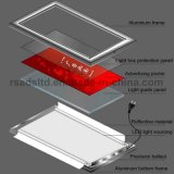 Singola casella chiara ultra sottile del lato LED