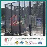 Cerca galvanizada do aeroporto da segurança do aço de 4mm/cerca do engranzamento prisão da alta segurança 358