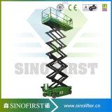 Plataforma de trabalho auto-propulsada eletronica eletrônica Sinofirst 12m