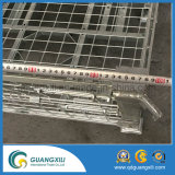 Armazém Folding & Stacking Mesh Cage com rodrigas Trundle