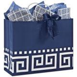 Saco de papel dos clientes chiques prateados/saco de compra/caixa de presente e sacos de papel do saco/portador com o punho na boa qualidade