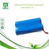 bloco 2600mAh da bateria 7.4V 18650 para a luz Emergency do diodo emissor de luz