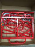 Carros de la carretilla de las compras de 90*70*59 cm para el supermercado con las ruedas sólidas de la PU de 8 pulgadas