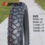 La motocicleta pone un neumático 110/90-17 120/80-17 120/80-18