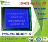 écran LCD graphique de 160X128 MCU, T6963c, 22pin, pour la position, sonnette, médicale, véhicules