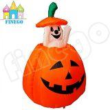 het Opblaasbare Spook van 120cm Halloween binnen het Licht van de Pompoen