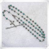 ガラス青いセクションは玉を付ける数珠(IOcr314)に
