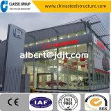 Schönes Stahlkonstruktion-Ausstellungsraum-Gebäude mit Glaszwischenwand