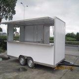 Macchina della caramella di cotone della macchina del yogurt della macchina della cialda di vendita della via utilizzata nel carrello mobile dell'alimento con le rotelle