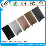 Protetor de alumínio fino do cartão do metal RFID para o suporte de cartão