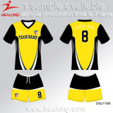 Sportswear uniforme do futebol da roupa da camisa Eco-Friendly viril engenhoso de Jersey