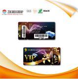 Carnets de socio plásticos impresos desplazamiento de la identificación del PVC del recubrimiento