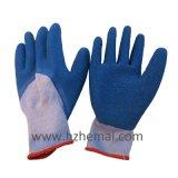 3/4 окунул перчатки покрытого Gripper латекса Crinkle работая