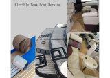 Decking flexible composé en plastique en bois de teck/bateau d'Aqualand/plancher synthétique de teck