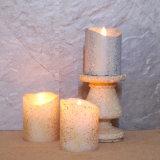 Vela del pilar LED de la cera de parafina para la decoración de la boda