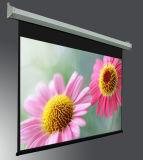 Tela motorizada grande tamanho do projetor da montagem da parede/tela elétrica