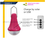 電話充電器が付いている太陽動力を与えられた庭のランタンLEDの屋外の太陽電池の庭ライト