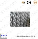 Corde de fil d'acier (1X19, 7X7, 7X19) avec de bonne qualité